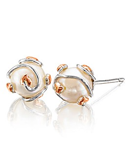 Clogau Tree of Life Caged Pearl Earrings