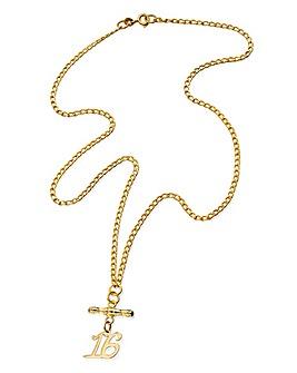 9 Carat Gold Special Age T-Bar Bracelet