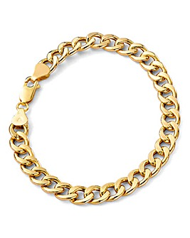 9 Carat Gold Hollow Oval Curb Bracelet