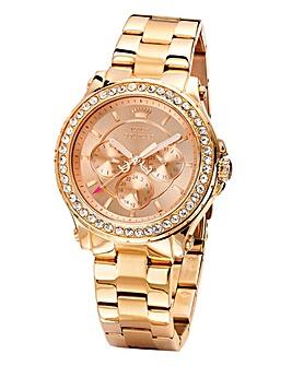 Juicy Couture Rose-tone Bracelet Watch