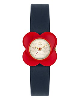 Orla Kiely Ladies Red Flower Case Watch