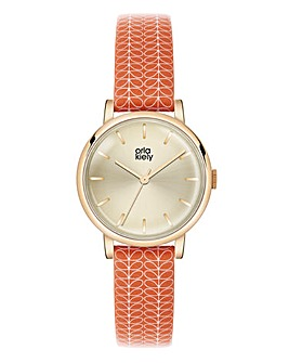 Orla Kiely Ladies Stem Print Strap Watch