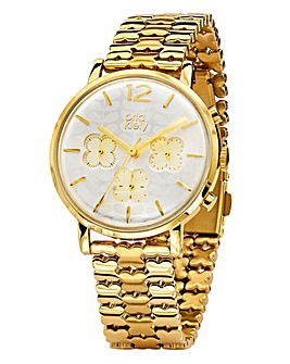 Orla Kiely Gold-tone Flower Watch