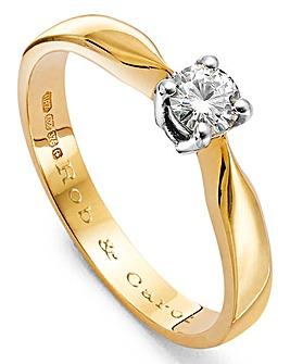 Moissanite Personalised 1/4 Carat Ring