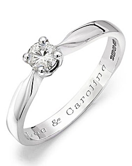 Moissanite Personalised 1/4 Carat Ring