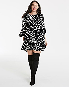 AX Paris Curve Spot Print Dress