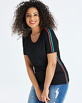Pink Clove T-Shirt With Side Stripe
