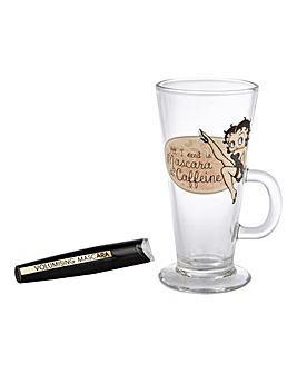Betty Boop Mascara & Latte Glass Set