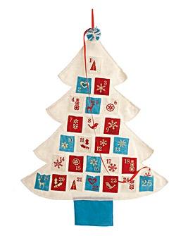Felt Christmas Tree Wall Advent