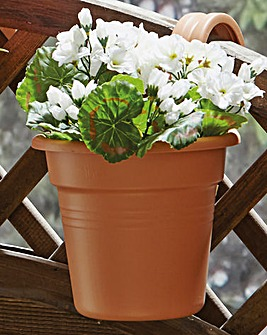 Easy Hang Balcony or Fence Pot Pack of 2