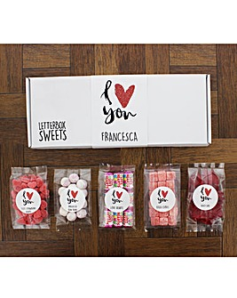 Personalised Letterbox Sweets Collection