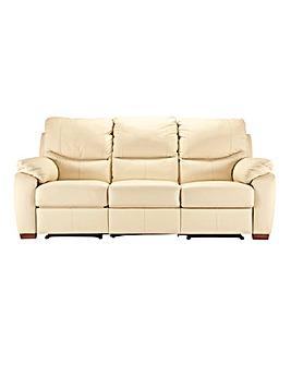 Napoli Leather 3 Seater Recliner Sofa