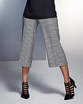 Houndstooth Wide Crop Trousers