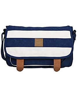 Artsac Striped Fabric Saddle Style Bag