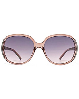 Carvela Textured Temple Sunglasses