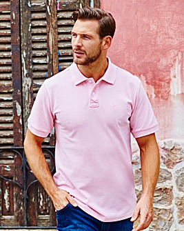 Capsule Pink Embroidered Polo Long