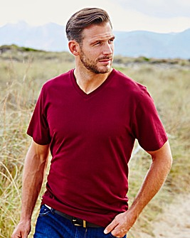 Capsule V-Neck Wine T-shirt Long