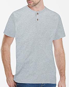 Capsule Grey Marl Grandad T-Shirt R