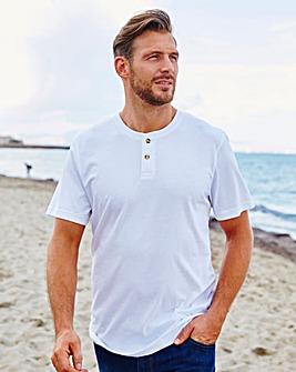 Capsule White Grandad T-Shirt L