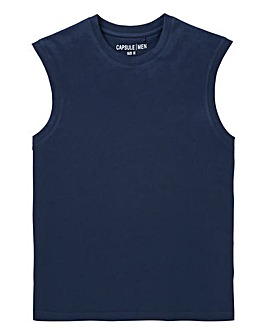 Capsule Navy Muscle Top R