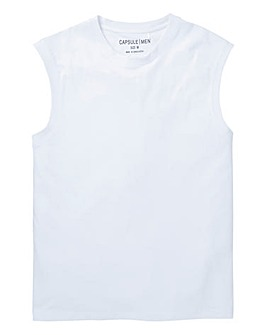 Capsule White Muscle Top R
