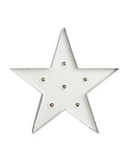 White Light Star Metal  Art