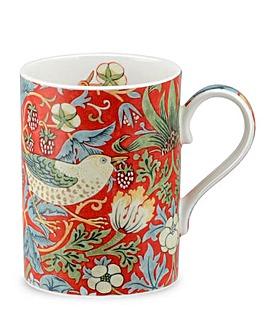 Strawberry Thief Mug Crimson & Slate