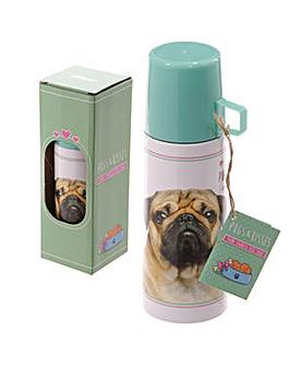 350ml Flask - Pug Design