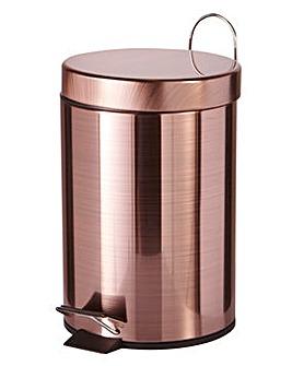 Copper 3 Litre Pedal Bin