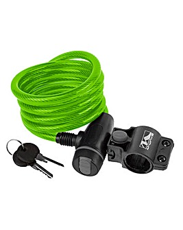 Ventura Spiral Cable Lock c/w Bkt