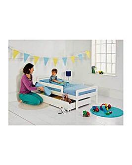Ellis Storage Toddler Bed Frame - White