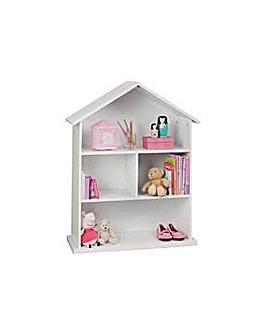 Mia Dolls House Bookcase White