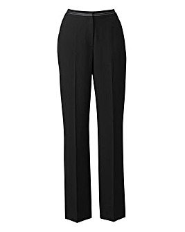 Pull On Trouser Contrast Trim L25in