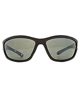 Freedom Polarised Branco Wrap Sunglasses