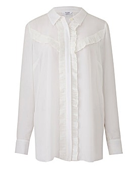 Ivory Blouse With Ruffle Detail