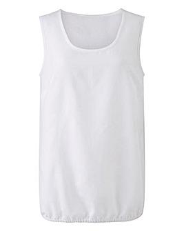 White Linen Mix Vest