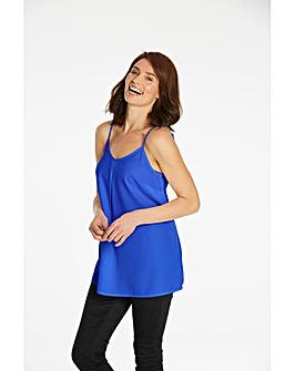 Bright Blue Strappy Cami Top