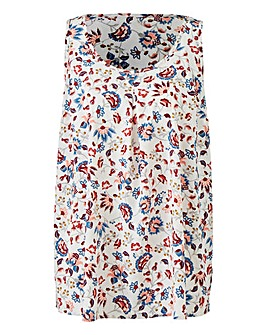 Paisley Print Sleeveless Vest Top