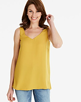 Ochre Built Up Strappy Cami