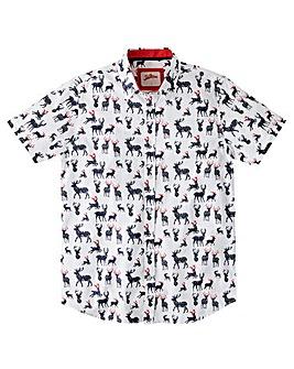 Joe Browns Xmas Stag Print Shirt Long