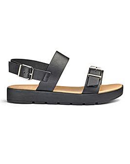Sole Diva Twin Strap Sandal EEE Fit