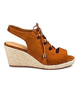 Sole Diva Ghillie Tie Wedge E Fit