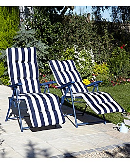 Deluxe Reclining Stripe Loungers