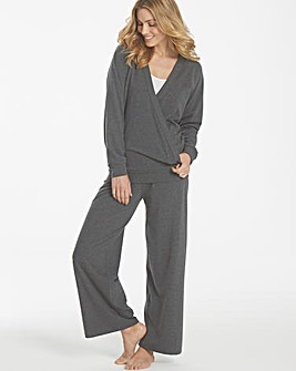 Pretty Secrets Wrap Over Loungewear Set