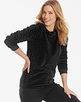 Pretty Secrets Textured Fleece Jumper