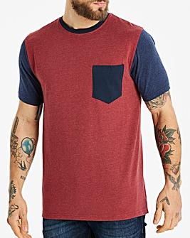 Jacamo Contrast Pocket T-Shirt Reg