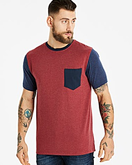 Jacamo Contrast Pocket T-Shirt Long