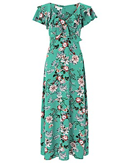Monsoon Lara Kimono Print Dress
