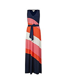 Monsoon Cece Colourblock Maxi Dress