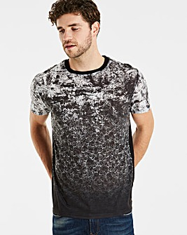 Jacamo Faded Skulls T-Shirt Long